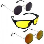 Vitoria Round, Wrap-around Sunglasses(Multicolor)