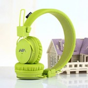 NIA X2 4-in-1 Bluetooth Hands-free Headphone Support Micro SD Player / FM Radio - Light Green