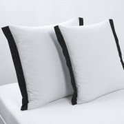 La Redoute Interieurs Fronha de almofada quadrada Épure, branco/preto