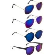 NuVew Aviator, Wayfarer, Oval Sunglasses(Blue, Blue, Green, Blue)