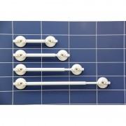 MOBELI Barre d'appui à ventouses réglable 430-555mm avec indicateurs de sécurité