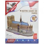 Puzzle 3D Notre Dame, 128 piese, Cubic Fun