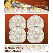 Unique Emoji Favor contenedor, Notepads & Notebooks, Blanco, Una Talla