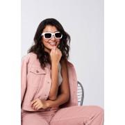 ''Gina Tricot'' ''Litzy sunglasses'' ''White (1000)'' ONESZ