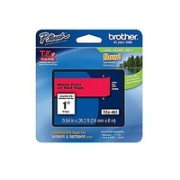 TZ Tape BROTHER 24mm Black on Red, Laminated, 8m lenght, for P-Touch