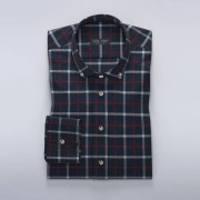 Tailor Store Navy rutig flanellskjorta