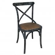 Bolero houten stoel met gekruiste rugleuning black wash - 2