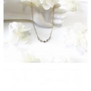 K10YG ヌーディシャンパンダイヤモンド5石 ネックレス【キュイキュイ/cui-cui レディス ネックレス K10 イエローゴールド ルミネ LUMINE】