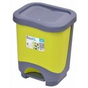 Cos de gunoi EKO 8 l cu galeata si maner verde
