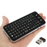 2.4GHz Mini Wireless Air Mouse + Clavier + Télécommande avec USB Mini Récepteur et SD / MMC Card Slot pour PC / Smart TV / Ordinateur portable / Android TV Box