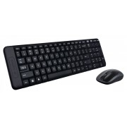 Tastatura+Miš USB US Logitech MK220, Cordless, Crna/