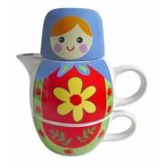 Streamline Nesting Dolls Tea for Two Set - Blue