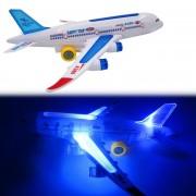 ER A380 De Color Luminoso De Avión De Juguete Eléctrico-multicolor
