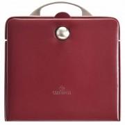 Windrose Merino Charmbox Caja para joyas joyero 21 cm Rot