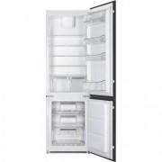 GARANTIE 2 ANI Combina frigorifica incorporabila SMEG, dimensiuni 1772 x 540 x 547 mm, culoare usa alb, volum frigider 192 litri, volum congelator 61 litri, nivel zgomot 39 dB(A), iluminare LED, congelator NO FROST, C7280NEP1