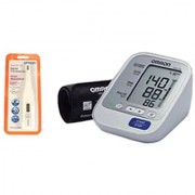OMRON HEM-7132 AUTOMATIC UPPER ARM BLOOD PRESSURE MONITOR (WITH 5 YEARS WARRANTY) AND OMRON DIGITAL THERMOMETER M-246 He