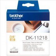 Brother P-Touch QL 700. Etiquetas de Papel Negro/Blanco Original