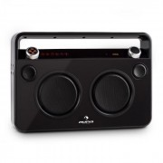 Auna BEBOP GHETTOBLASTER бумбокс USB BLUETOOTH AUX MIC батерия черен (CS5-Bebop BK)
