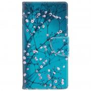 Bolsa tipo Carteira Wonder Series para Sony Xperia L1 - Flores Brancas