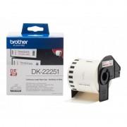 Brother DK-22251 Rolo de Etiquetas Vermelho/Preto para Impressora