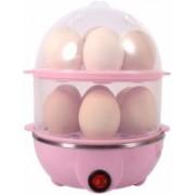 Vdhja Multi-Function 2 Layer Electric Food and 14 Egg Cooker Boilers & Steamer/Egg Poacher/Home Machine Egg Boiler with Egg Tray Egg Cooker(Pink, 14 Eggs)