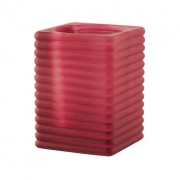 Vierkant ribbelglas voor refills (bordeaux)