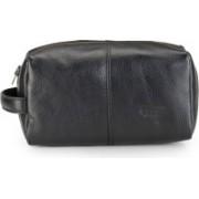 Phive Rivers Leather Wash Bag/Toilet Kit-PR1136 Travel Toiletry Kit(Black)