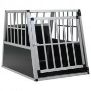 vidaXL Кучешка клетка с една врата, 65x91x69,5 см