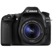 Digitale spiegelreflexcamera Canon EOS 80D Incl. EF-S 18-55 mm IS STM lens 24.2 Mpix Zwart WiFi, Draai- en zwenkbare display