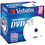 DVD-R4,7 VER10-P - Verbatim DVD-R 4,7GB, 10-er JewelCase, printab.
