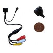 """Microcamera/Micro camera/Telecamera CCD a colori con microfono """"Pin Hole"""""""
