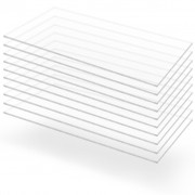 vidaXL Прозрачни акрилни плоскости, 10 бр, 60x120 см, 2 мм
