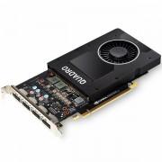 PNY NVIDIA Video Card Quadro P2000 GDDR5 5GB/160bit, 1024 CUDA Cores, PCI-E 3.0 x16, 4xDP, Cooler, Single Slot DP-DVI-D Cable incuded VCQP2000-PB