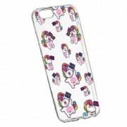 Husa Silicon Transparent Slim Fat Unicorn Apple iPhone 6 PLUS 6S PLUS