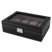 Warren Asher Schwarze Schaukasten Holz Uhrenbox Für 8 Uhren