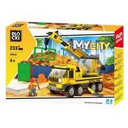 Joc constructie, My City, Camion cu macara, 233 piese Blocki