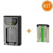 Kit Nitecore Incarcator USB pentru Sony + Acumulator compatibil tip NP-BX1