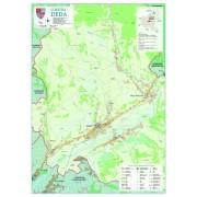 Harta Comunei Deda MS - sipci de lemn