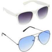 Redleaf Wayfarer, Aviator Sunglasses(Grey)