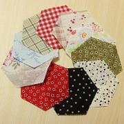 Generic 10Pcs Mixed Color Hexagon Diy Sewing Cotton Patchwork
