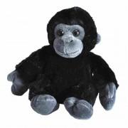 Wild Republic Pluche baby gorilla aap dierenknuffel 18 cm