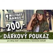 MILITARY RANGE | Dárkový poukaz FASHION 200 Kč