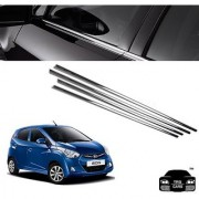 Trigcars Hyundai Eon Car Window Lower Garnish Chrome