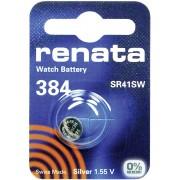 Baterie buton oxid de argint 384, 1,55 V, 45 mAh, Renata