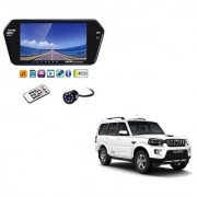 7 Inch Full HD Bluetooth LED Video Monitor Screen with USB Bluetooth + 8 LED Reverse Parking Camera For Mahindra Scorpio