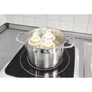 Kit 6 recipiente pentru fiert oua fara coaja+separator