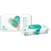 Pampers Pure protection S2 39ks + Pampers ubrousky Aqua Pure 48ks