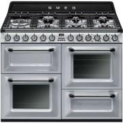 SMEG Tr4110s1 Cucina 110x60 7 Fuochi A Gas Triplo Forno Classe A Colore Argento