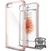 Skin Spigen Case Crystal Shell iPhone 5 5S SE Roz-Transparent