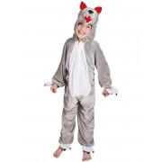 Disfarce Lobo criança - 4-6 anos (104-116 cm)
